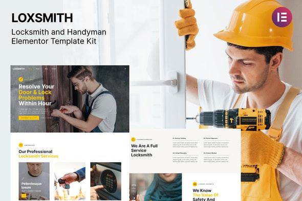 Loxsmith — Key & Locksmith Services Elementor Template Kit - Business & Services Elementor
