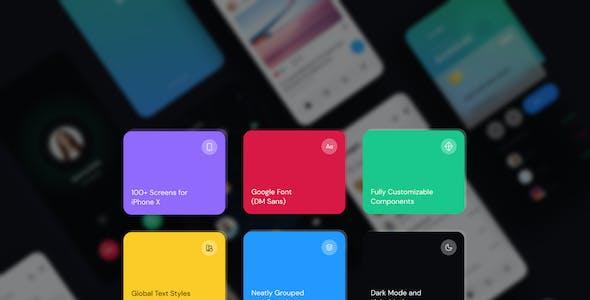 Monster-Messenger App UI Kit for Sketch
