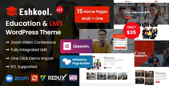 Eshkool - Education WordPress Theme - Education WordPress