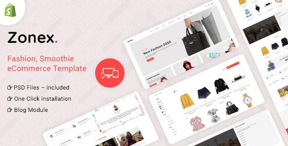 Zonex Multipurpose E-commerce Shopify Template - Fashion Shopify