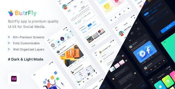 ButrFly - Social UI Kit For XD