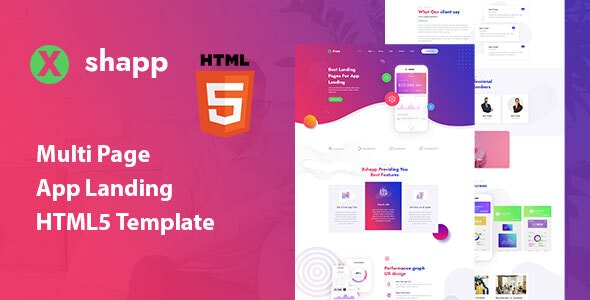 Xshapp - Multipage App Landing HTML5 Template - Software Technology