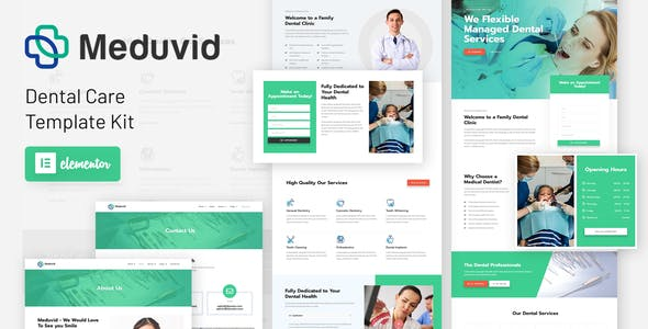 Meduvid - Medical & Dental Clinic Elementor Template Kit