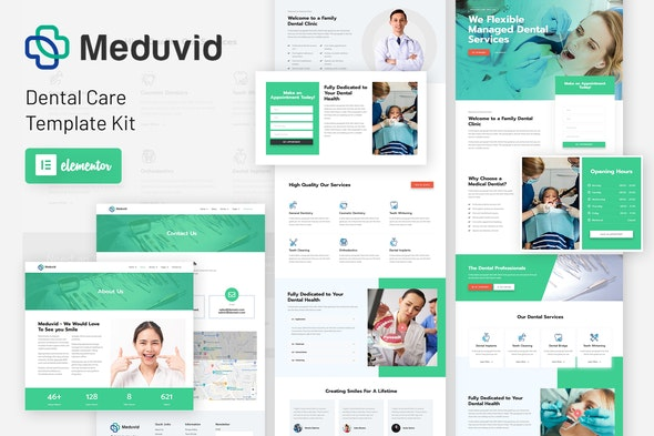 Meduvid - Medical & Dental Clinic Elementor Template Kit - Health & Medical Elementor