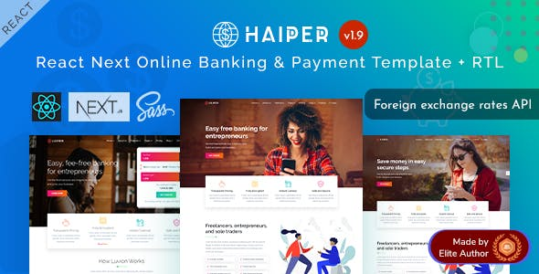 Haiper - React Next Online Banking & Payment Template