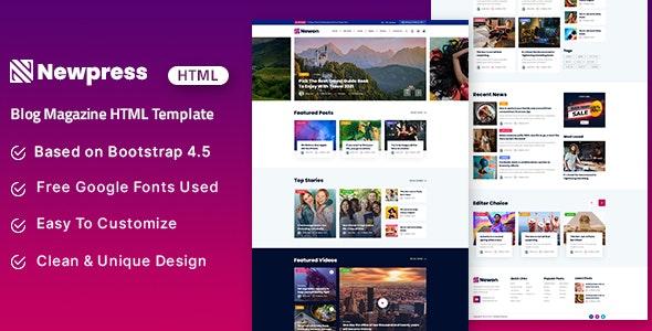 Newpress - Blog Magazine HTML Template - Business Corporate