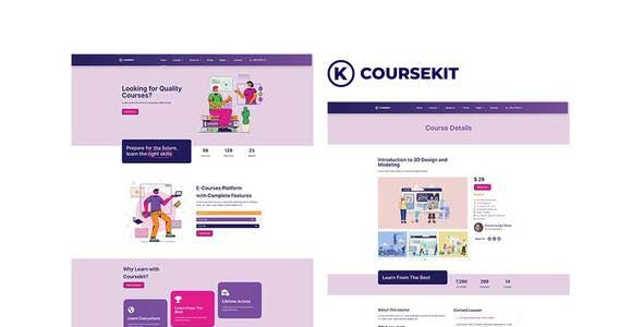 CourseKit - Online e-Learning Elementor Template Kit