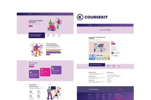 CourseKit - Online e-Learning Elementor Template Kit - Education Elementor