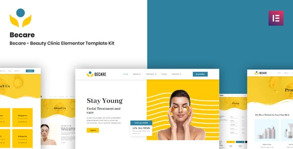Becare - Beauty Clinic Elementor Template Kit