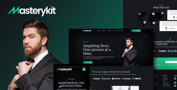 MasteryKit - Business Coach Elementor Template Kit