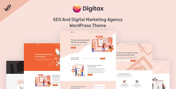 Digitax - SEO & Digital Marketing Agency WordPress Theme - Marketing Corporate
