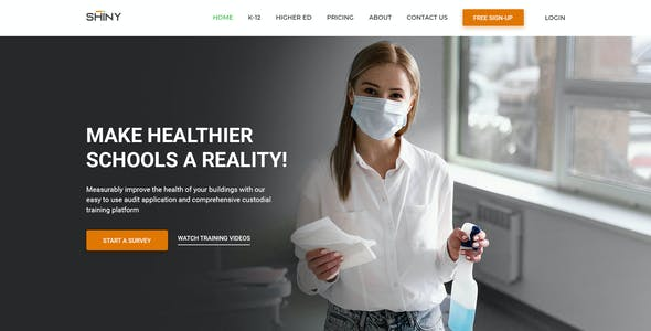 SHINY - Multi-Purpose Cleaning Services PSD Template