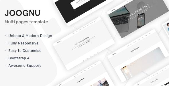 Joognu - Minimal Portfolio Template - Creative Site Templates