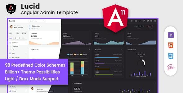 Lucid - Angular Admin Template - Admin Templates Site Templates
