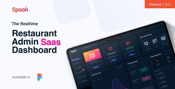 Spoon | Restaurant SaaS Dashboard Figma Design Templates - Restaurants & Cafes Entertainment