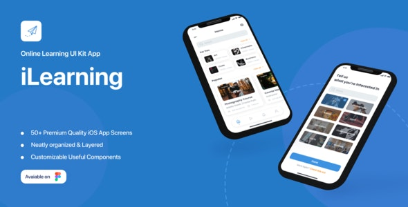 i-Learning - Education App UI Kit - Figma UI Templates