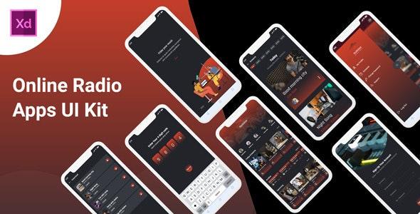 Radiobox - Online Radio App UI kit - Business Corporate