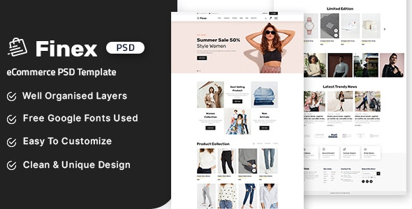 Finex - eCommerce PSD Template - Shopping Retail