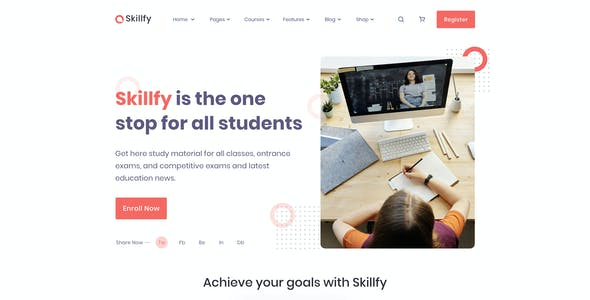 Skilify For Education & Learning Management System Template Figma