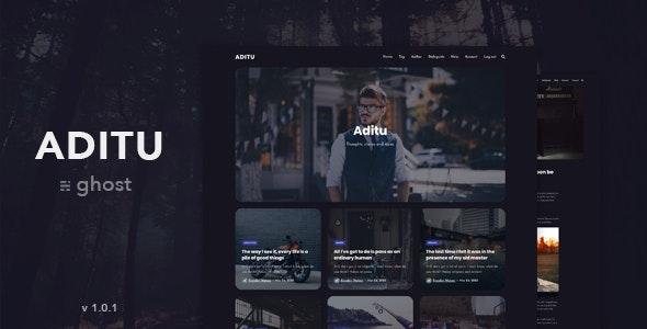 Aditu – Stylish Dark Theme for Ghost - Ghost Themes Blogging