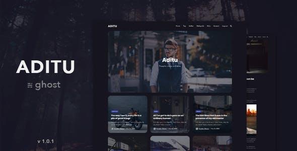 Aditu – Stylish Dark Theme for Ghost