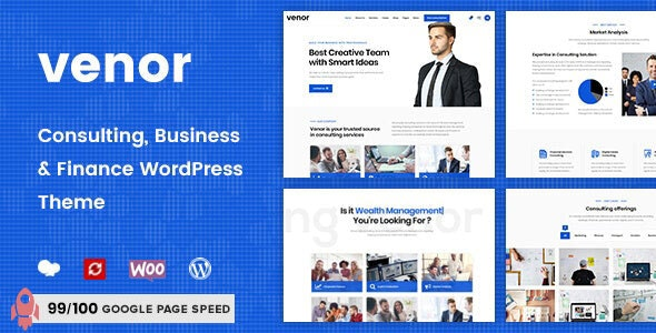 Venor - Business Consulting WordPress Theme - Business Corporate