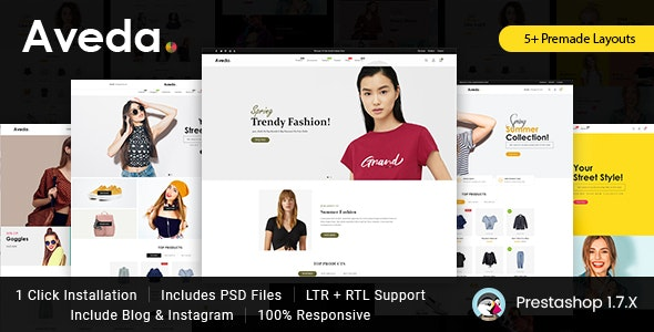 Aveda Fashion Prestashop 1.7 Responsive Theme - Fashion PrestaShop