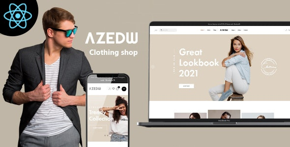 Azedw - React Clothing eCommerce Template - Shopping Retail