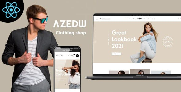 Azedw - React Clothing eCommerce Template