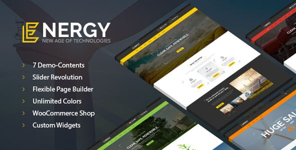 Energy - solar and wind alternative power WordPress Theme - Technology WordPress