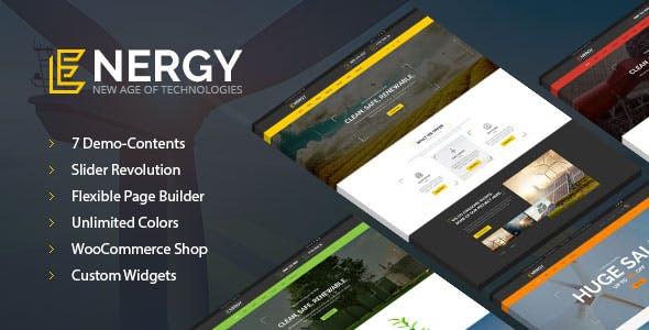 Energy - solar and wind alternative power WordPress Theme