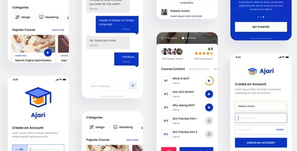 Ajari - E-learning Mobile App Template ( Framework 7 + PWA )