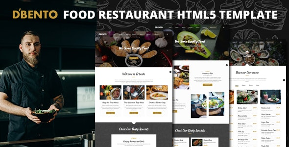 Dbento | Food Restaurant HTML5 Template - Restaurants & Cafes Entertainment