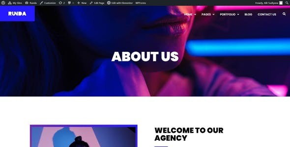 Runda - Creative Agency Elementor Template Kit