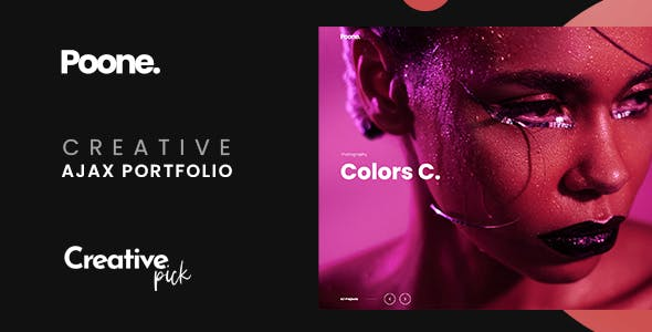 Poone - Creative Portfolio Ajax Showcase Template