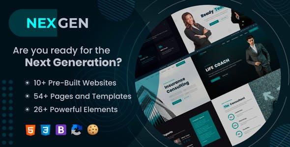 Nexgen - Consulting & Logistics HTML Template