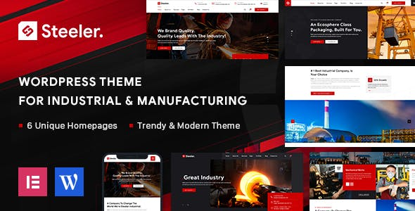 Steeler - Industrial & Manufacturing WordPress Theme