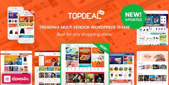 TopDeal v2.1.3 – Multi Vendor Marketplace Elementor WooCommerce WordPress Theme