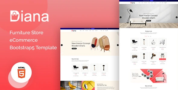 Diana – Furniture Store eCommerce Template - Shopping Retail