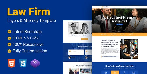 ESS - Law Firm HTML Template