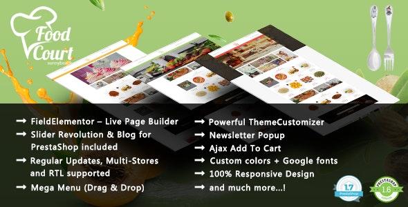 FoodShop - Bakery Responsive PrestaShop 1.7 & 1.6 Theme - Health & Beauty PrestaShop