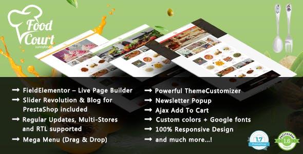 FoodShop - Bakery Responsive PrestaShop 1.7 & 1.6 Theme