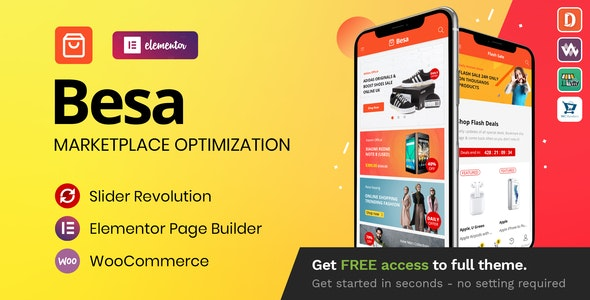 Besa v1.3.0 – Elementor Marketplace WooCommerce Theme