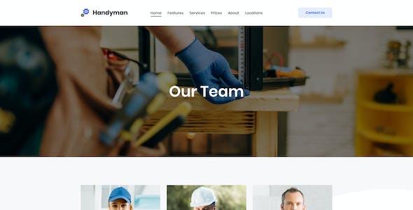 Handyman   Builder Plumber & Repair Service Elementor Template Kit