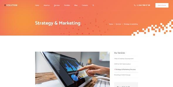 E-Volution - Web Agency Figma UI Template