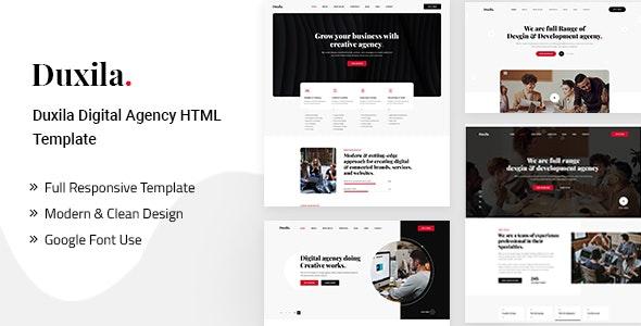 Duxila – Digital Agency HTML Template - Creative Site Templates