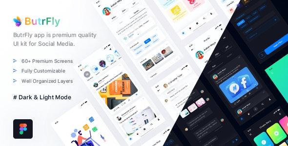 ButrFly - Social UI Kit for Figma - Figma UI Templates