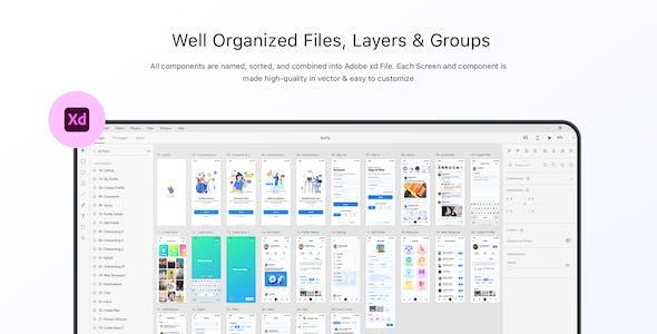 ButrFly - Social UI Kit for Figma