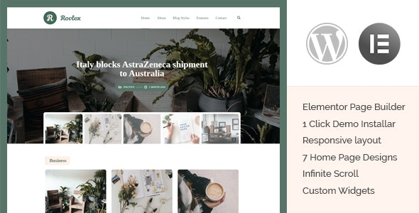 Rovlex - Blog Theme for Writers - Personal Blog / Magazine