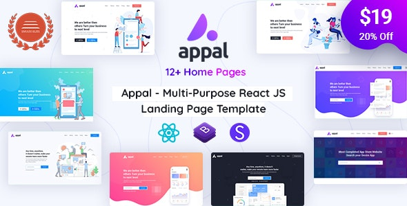 Appal - React Technology and IT Startup Template - Technology Site Templates